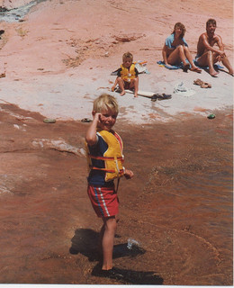 4 year old me at Lake Powell