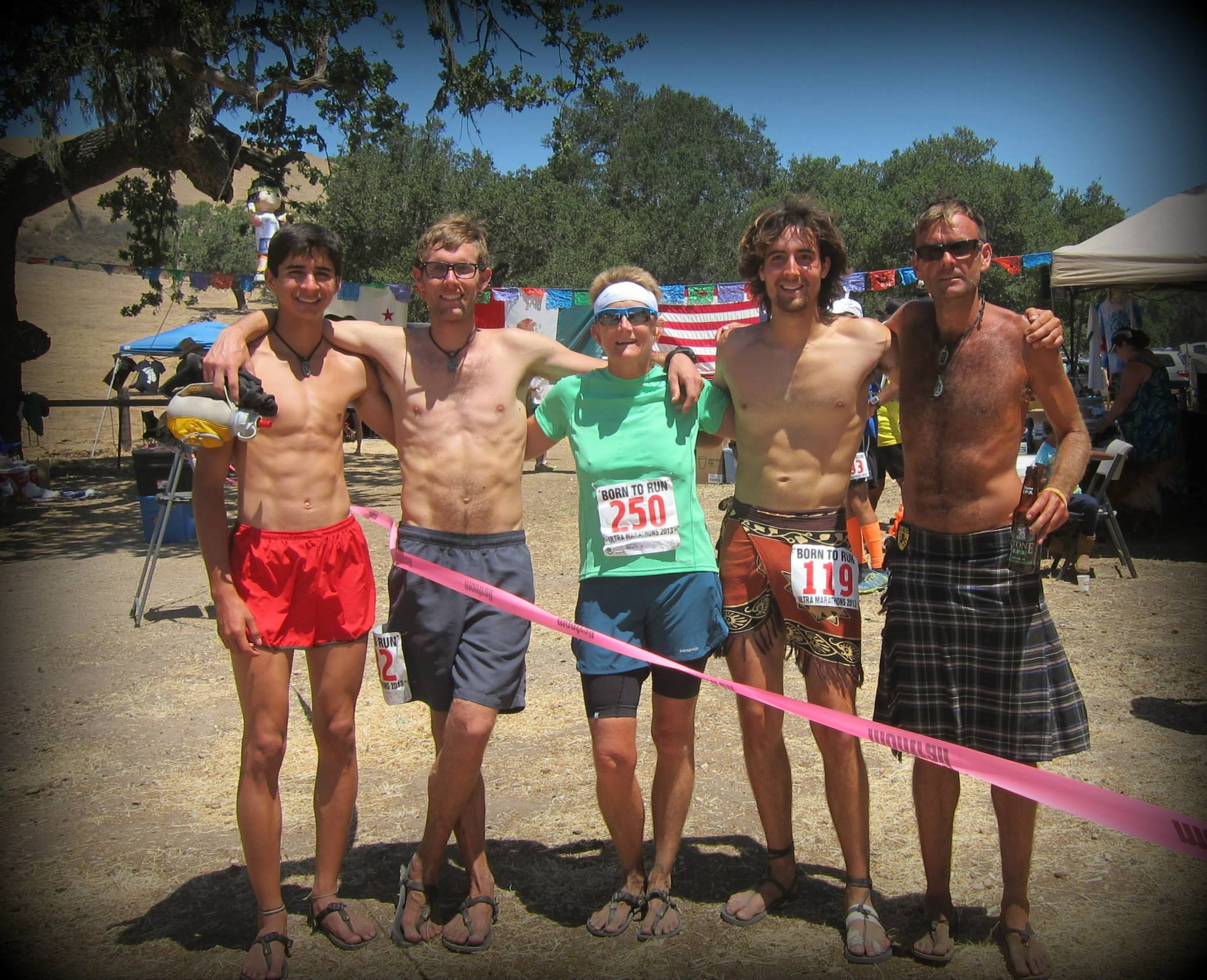 Greg, Me, Tracy, Bryan, and Sweeney. Post race.