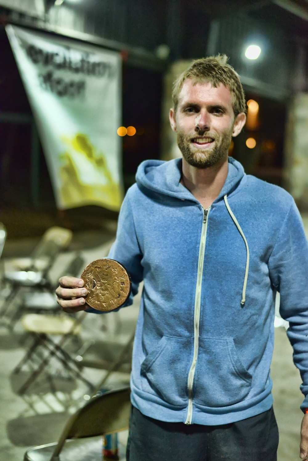 Me and my medal. Photo: Jeffrey Genova.