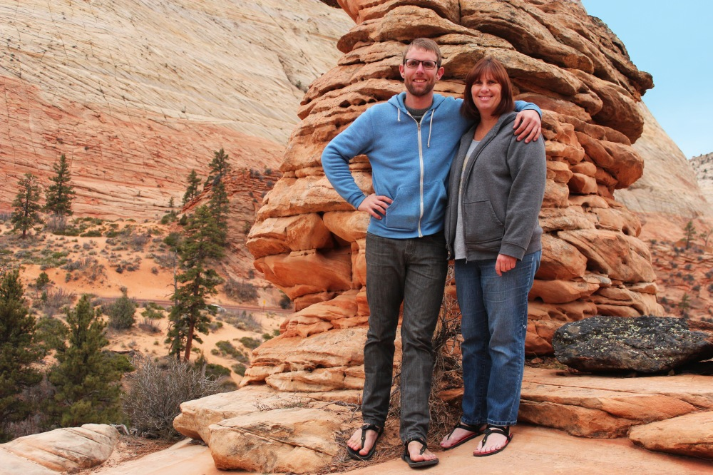 Me and my mom. Zion NP, Christmas Eve.